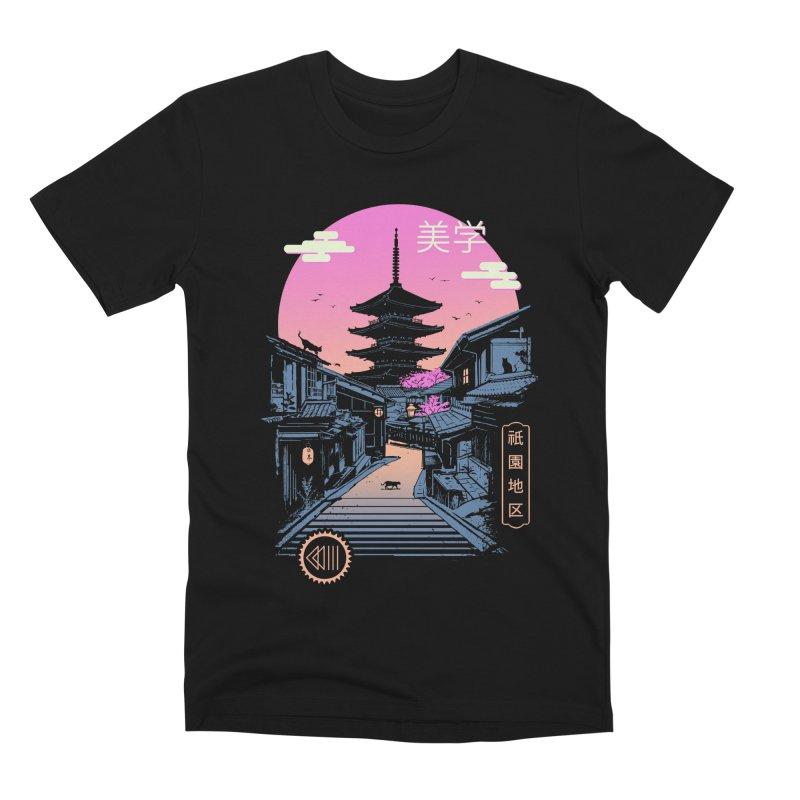 Pagoda Wave Aesthetics Men's T-Shirt by Vincent Trinidad Art