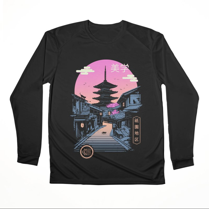 Pagoda Wave Aesthetics Women's Longsleeve T-Shirt by Vincent Trinidad Art