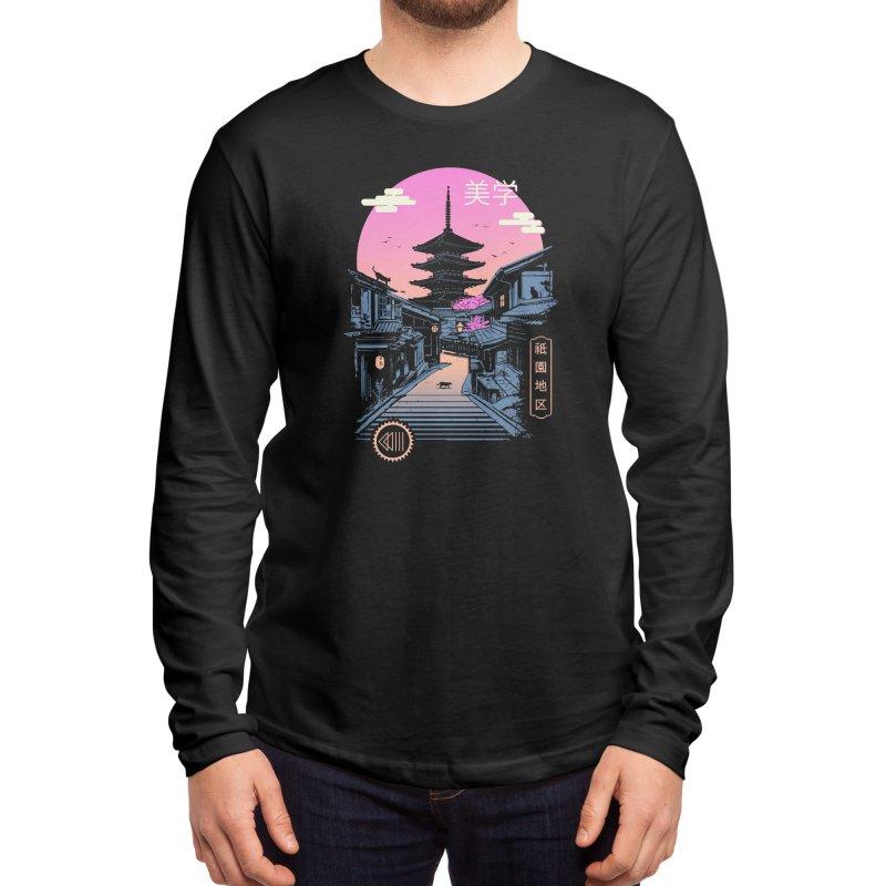 Pagoda Wave Aesthetics Men's Longsleeve T-Shirt by Vincent Trinidad Art