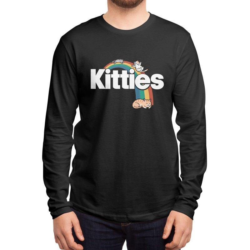 Rainbow Cats Men's Longsleeve T-Shirt by Vincent Trinidad Art