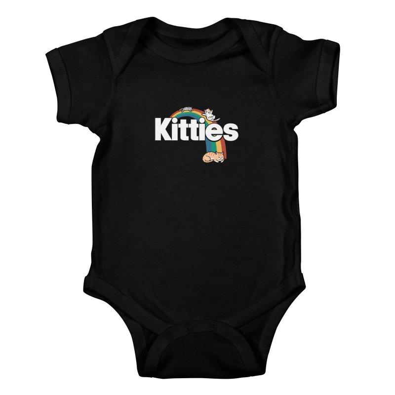 Rainbow Cats Kids Baby Bodysuit by Vincent Trinidad Art