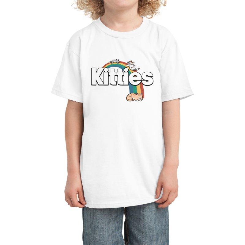 Rainbow Cats Kids T-Shirt by Vincent Trinidad Art