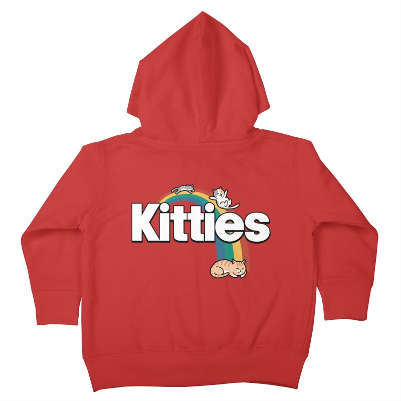 Rainbow Cats Kids Toddler Zip-Up Hoody by Vincent Trinidad Art