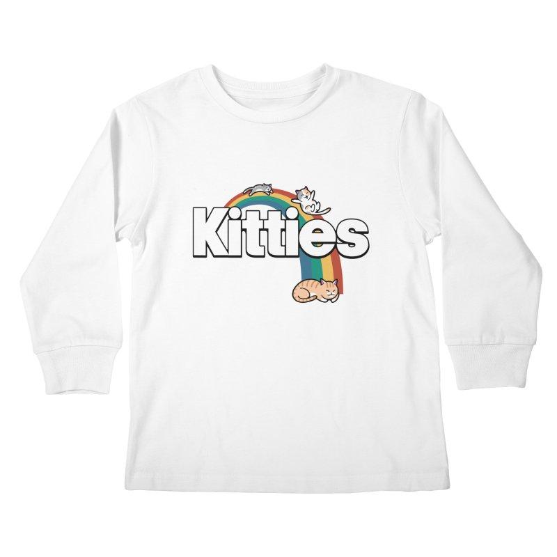 Rainbow Cats Kids Longsleeve T-Shirt by Vincent Trinidad Art