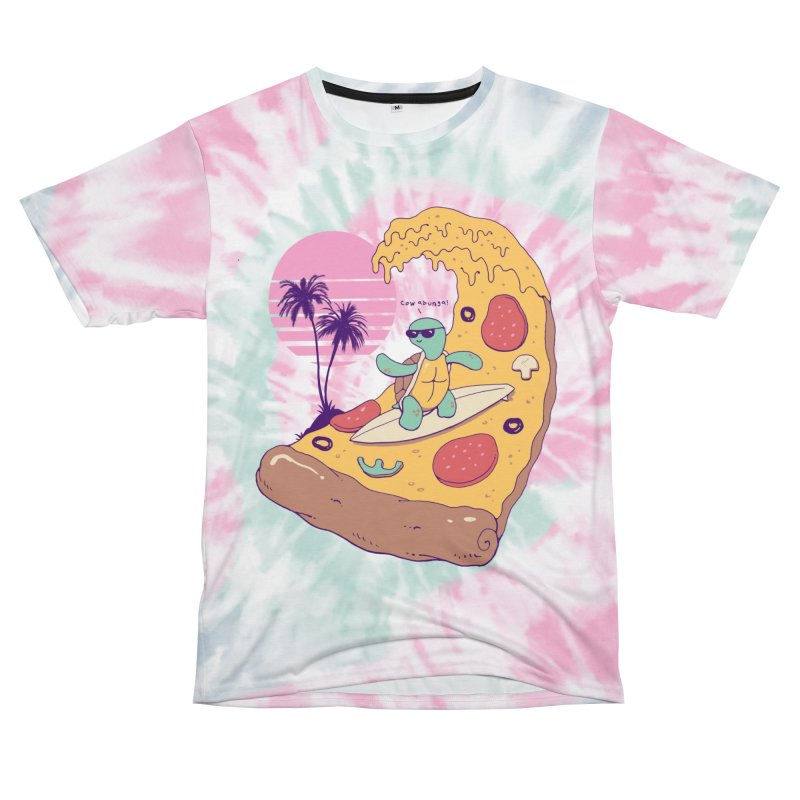 Pizza Wave Men's Cut & Sew by Vincent Trinidad Art