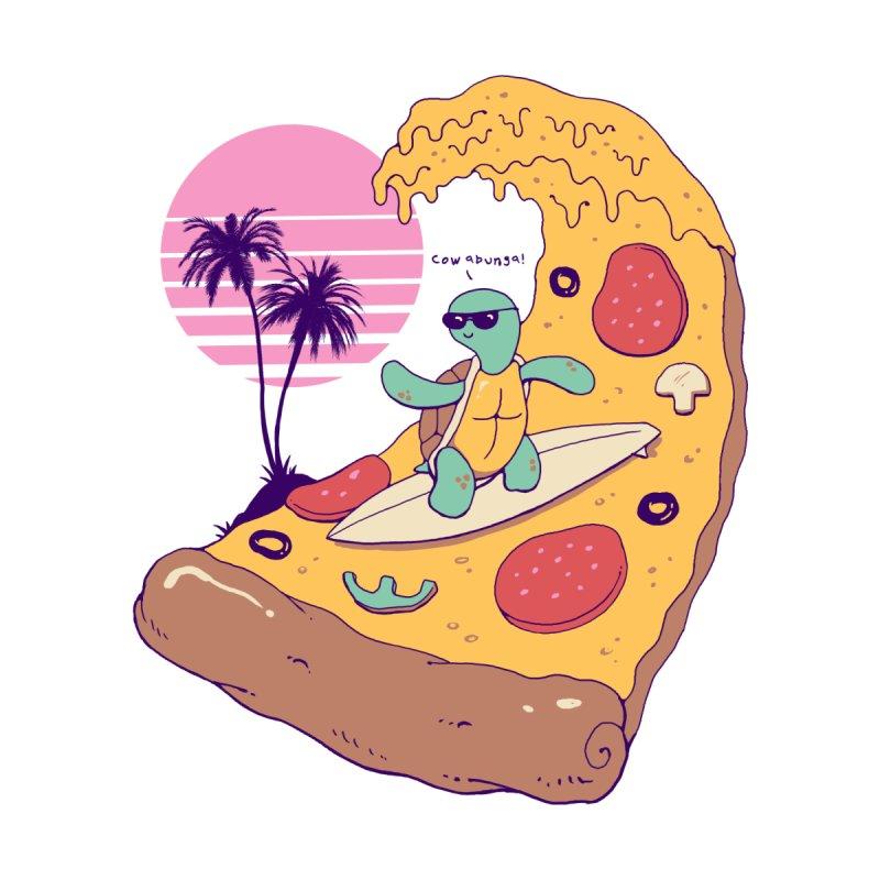 Pizza Wave Men's Longsleeve T-Shirt by Vincent Trinidad Art