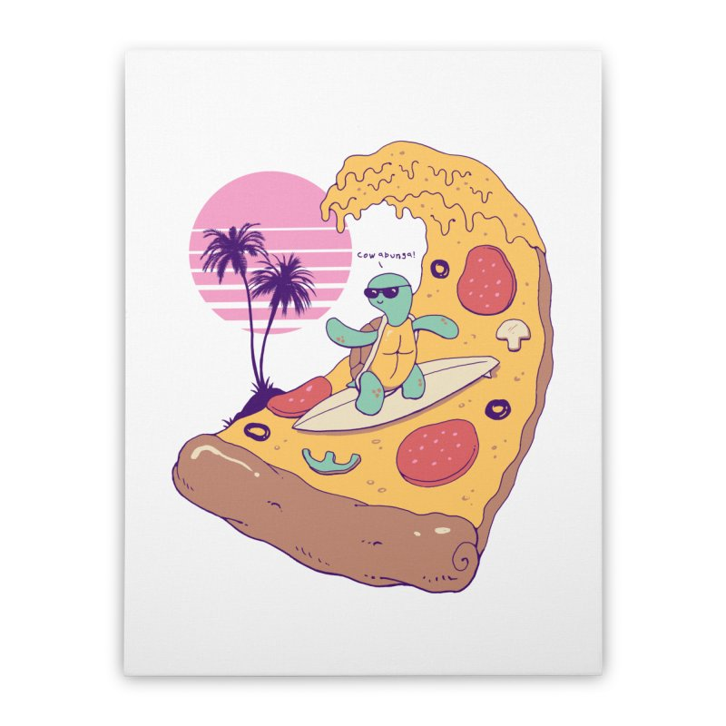 Pizza Wave Home Stretched Canvas by Vincent Trinidad Art