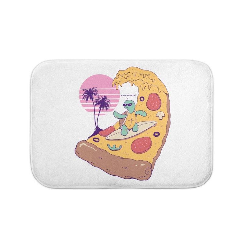 Pizza Wave Home Bath Mat by Vincent Trinidad Art