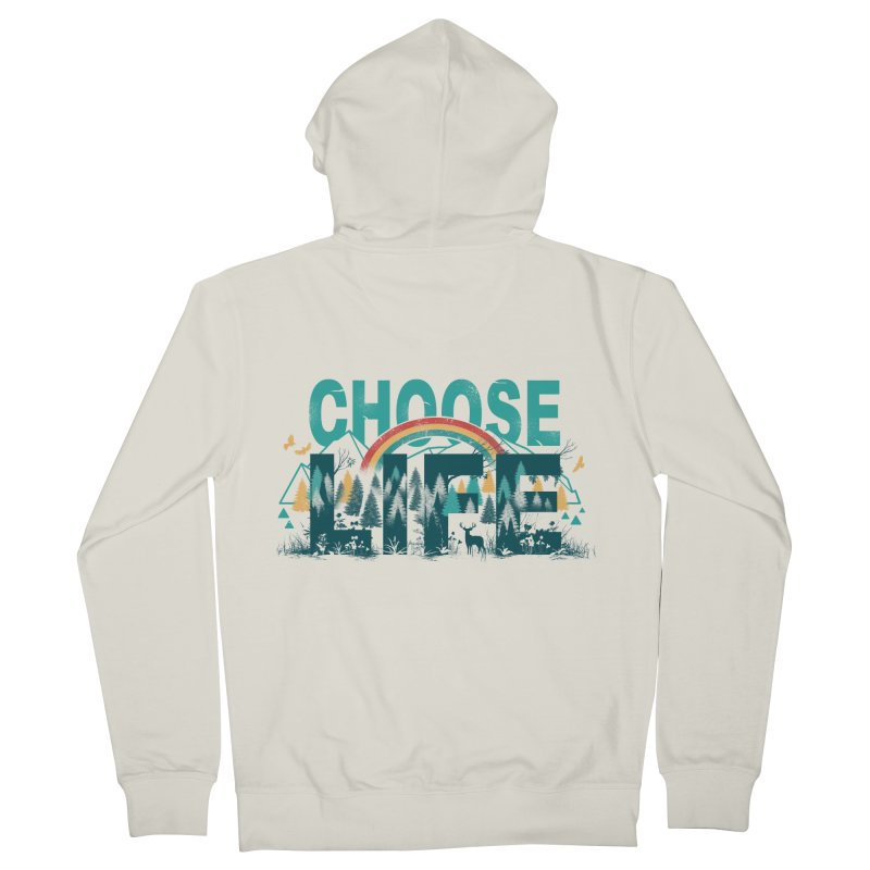 Choose to Live the Life Men's Zip-Up Hoody by vincenttrinidad's Artist Shop
