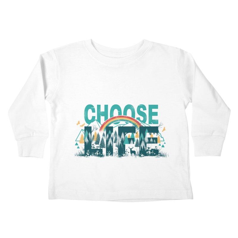 Choose to Live the Life Kids Toddler Longsleeve T-Shirt by vincenttrinidad's Artist Shop