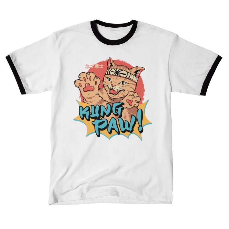 Kung Paw! Men's T-Shirt by Vincent Trinidad Art