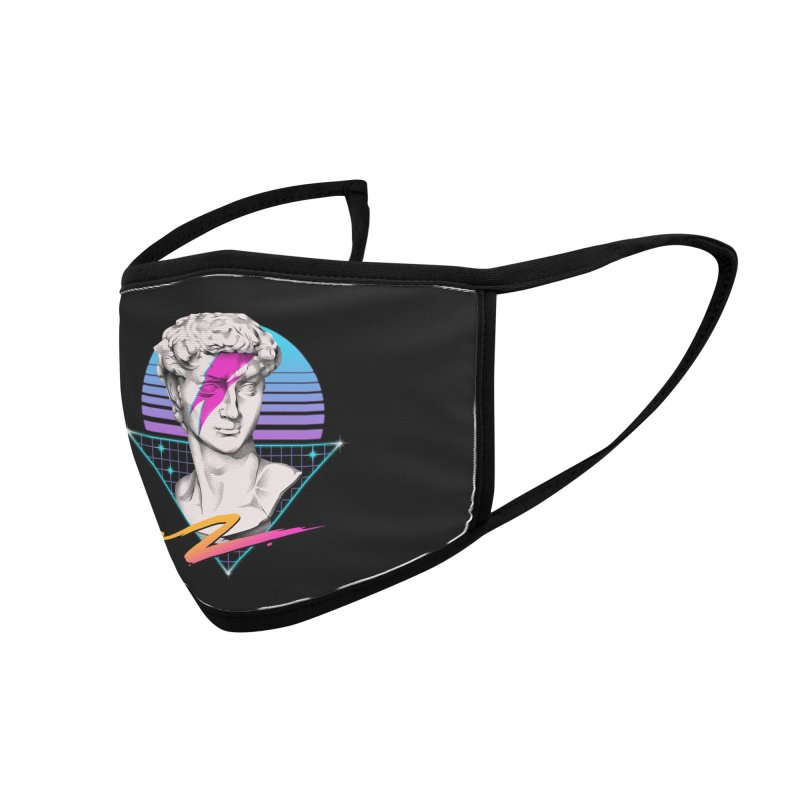 David Starman! Accessories Face Mask by Vincent Trinidad Art