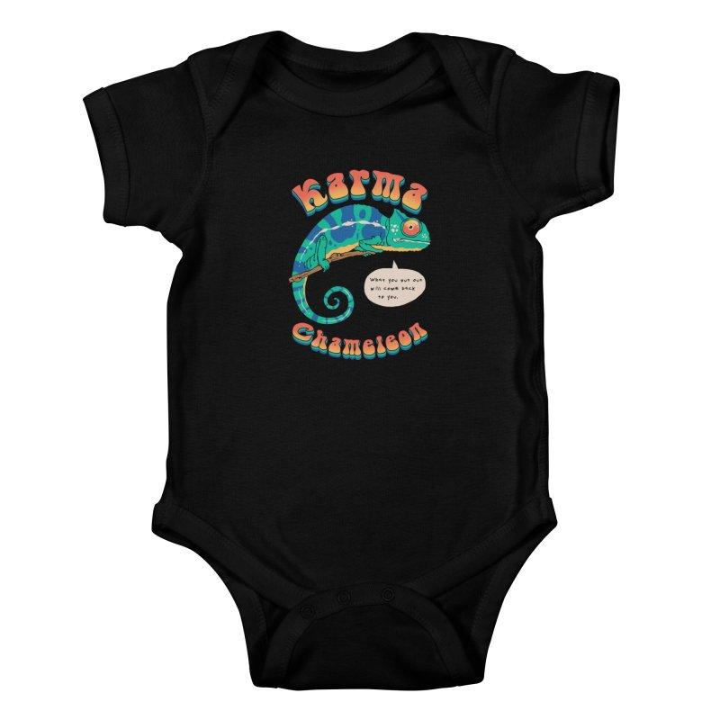 Cultured Chameleon Kids Baby Bodysuit by Vincent Trinidad Art