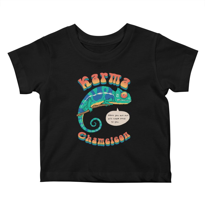 Cultured Chameleon Kids Baby T-Shirt by Vincent Trinidad Art