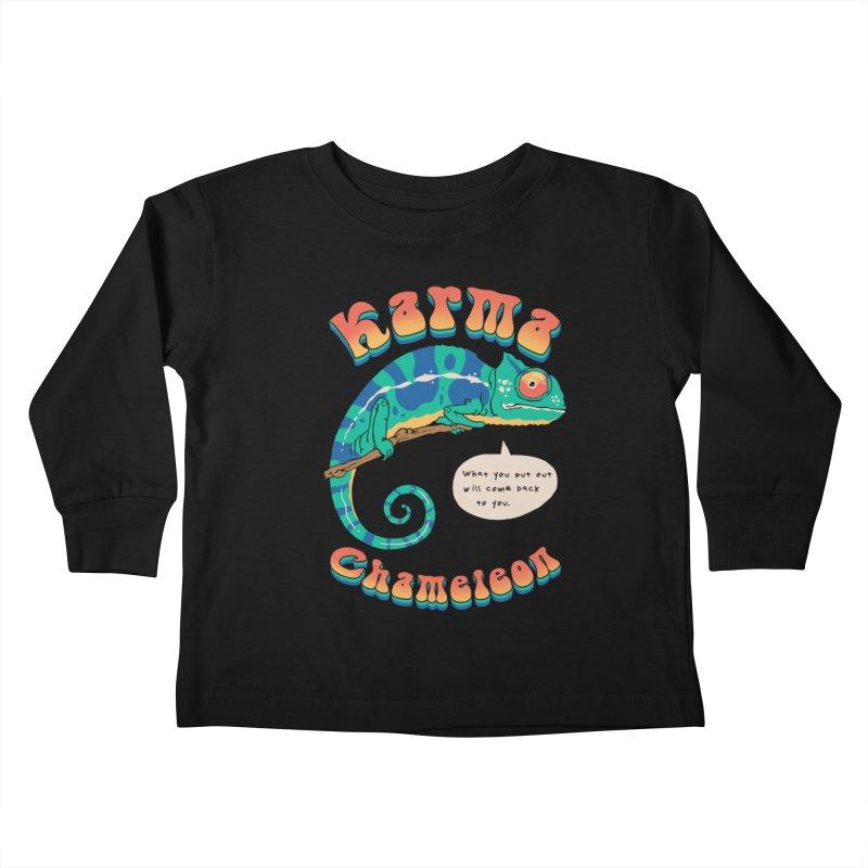 Cultured Chameleon Kids Toddler Longsleeve T-Shirt by Vincent Trinidad Art