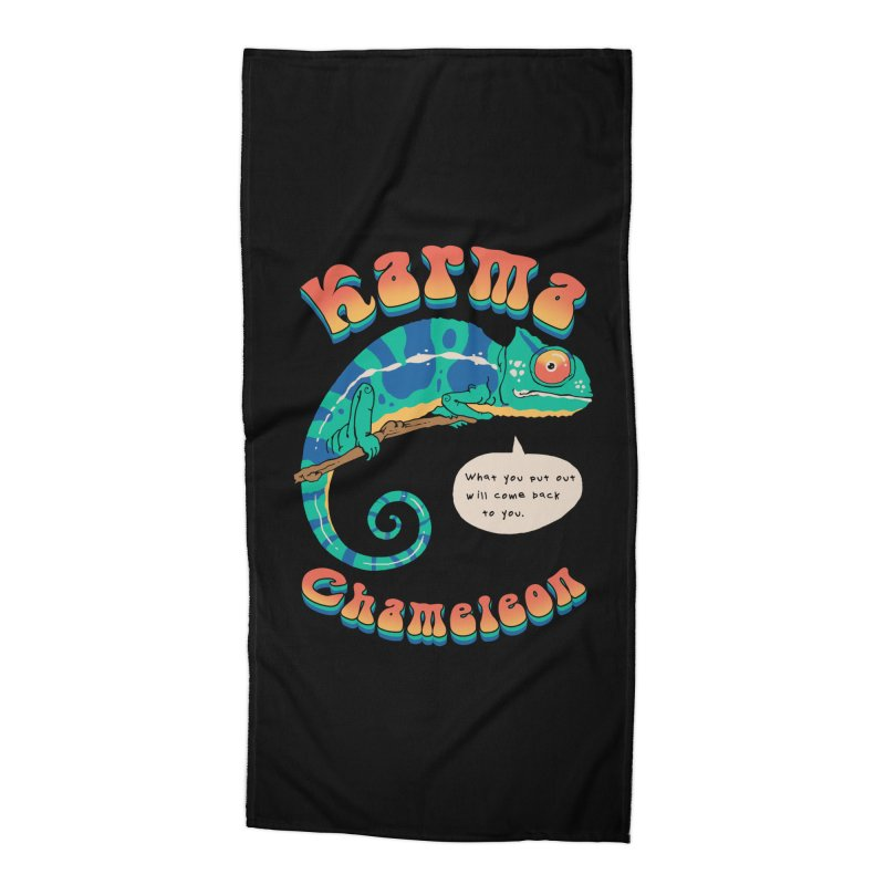 Cultured Chameleon Accessories Beach Towel by Vincent Trinidad Art