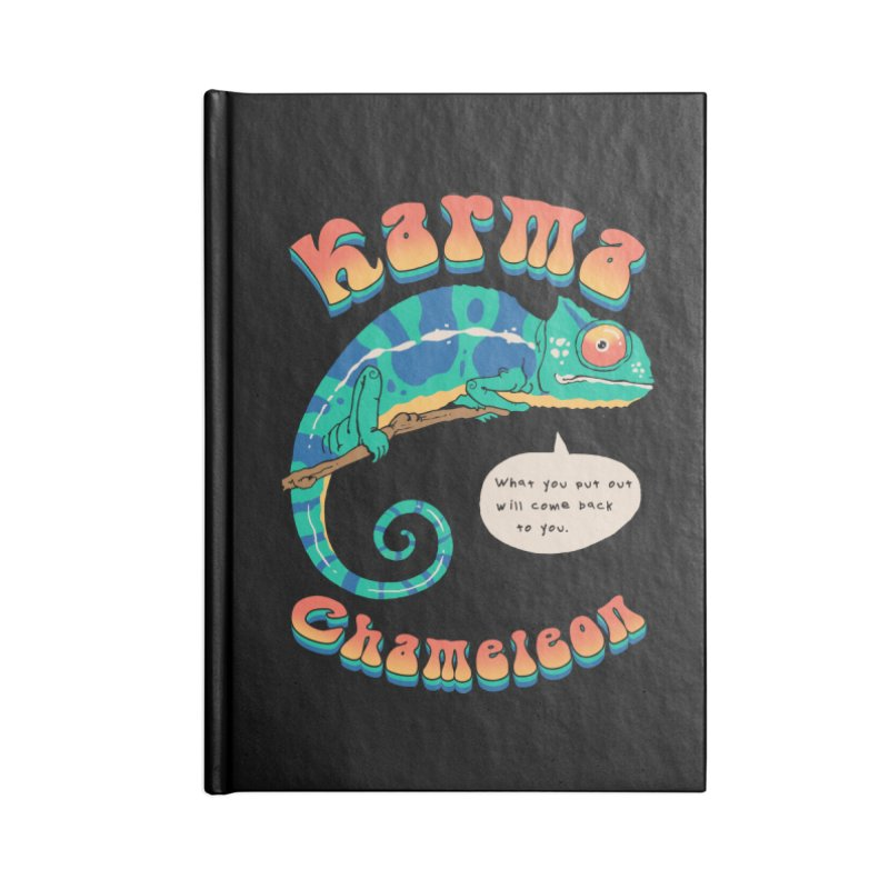 Cultured Chameleon Accessories Notebook by Vincent Trinidad Art