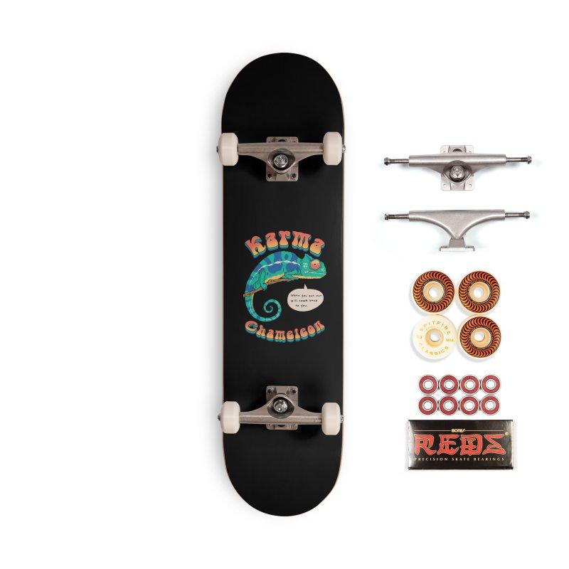 Cultured Chameleon Accessories Skateboard by Vincent Trinidad Art