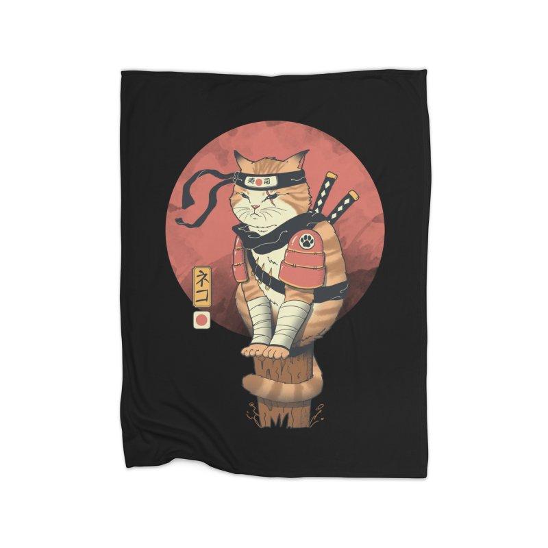 Shinobi Cat Home Blanket by Vincent Trinidad Art