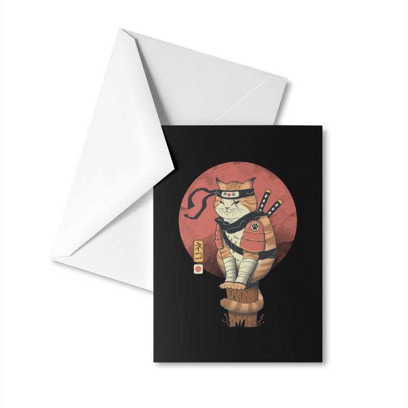 Shinobi Cat Accessories Greeting Card by Vincent Trinidad Art