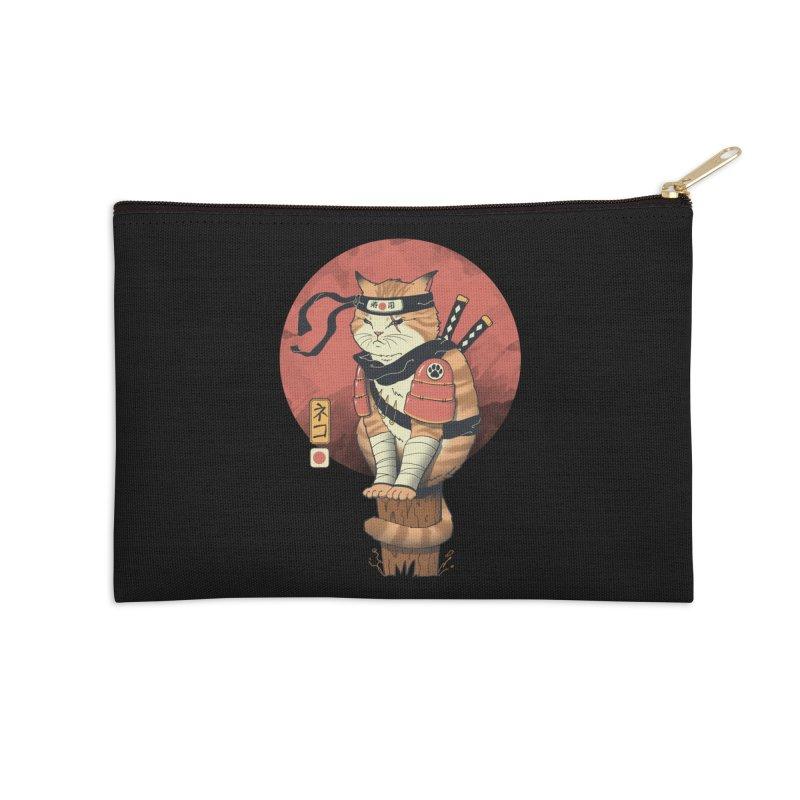 Shinobi Cat Accessories Zip Pouch by Vincent Trinidad Art