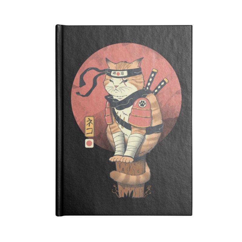 Shinobi Cat Accessories Notebook by Vincent Trinidad Art