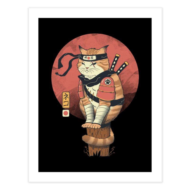Shinobi Cat Home Fine Art Print by Vincent Trinidad Art