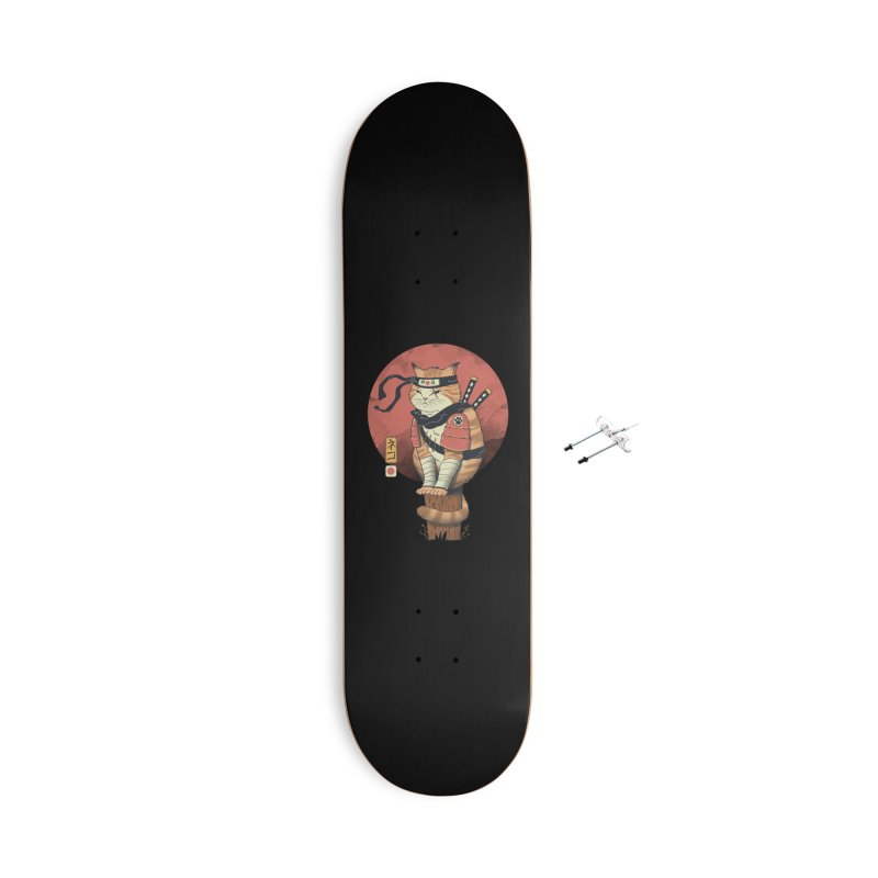 Shinobi Cat Accessories Skateboard by Vincent Trinidad Art