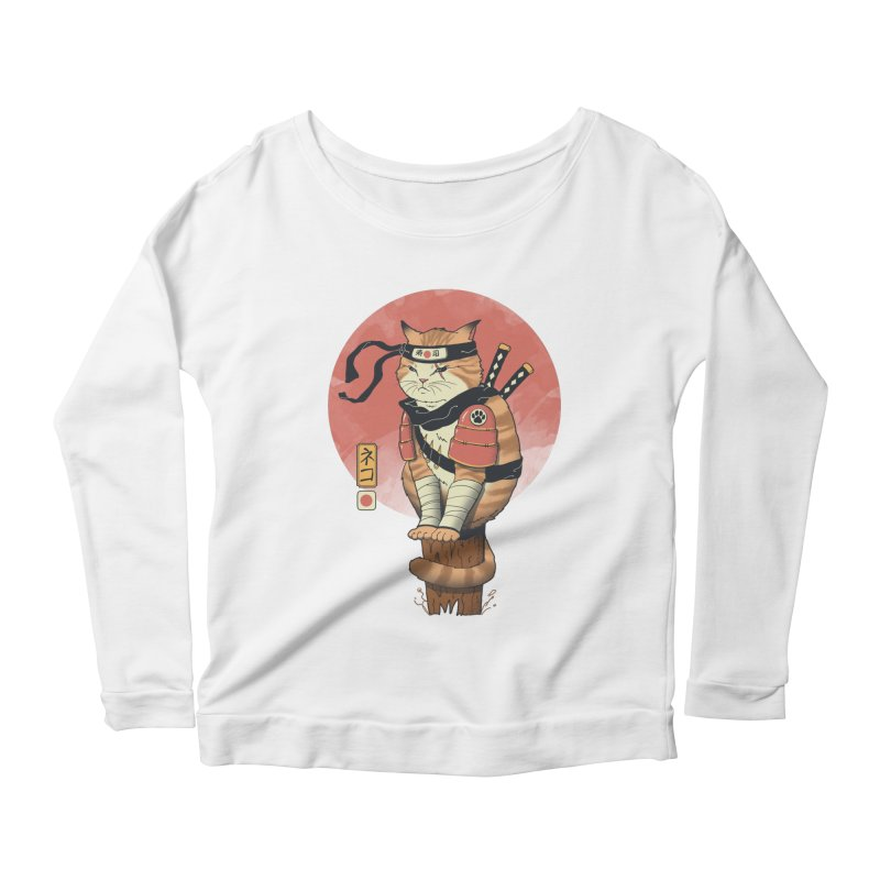 Shinobi Cat Women's Longsleeve T-Shirt by Vincent Trinidad Art