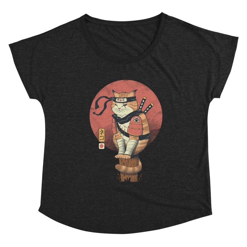 Shinobi Cat Women's Scoop Neck by Vincent Trinidad Art