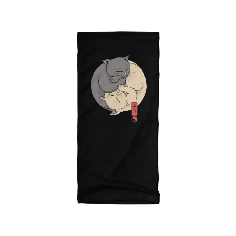 Yin Yang Cats Accessories Neck Gaiter by Vincent Trinidad Art