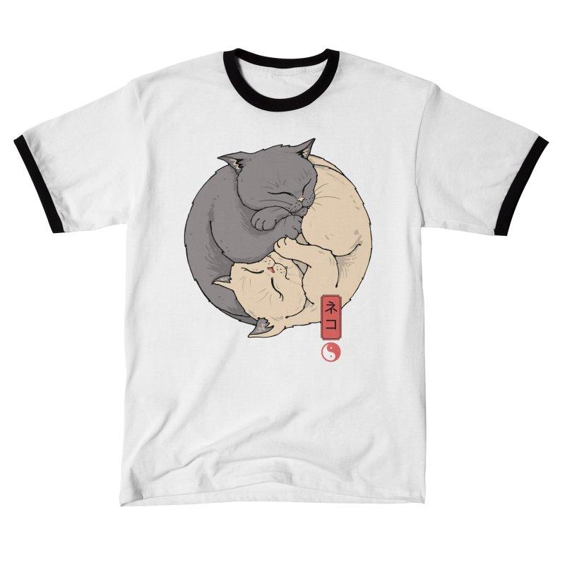 Yin Yang Cats Men's T-Shirt by Vincent Trinidad Art