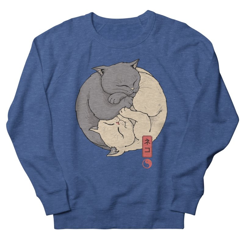 Yin Yang Cats Men's Sweatshirt by Vincent Trinidad Art