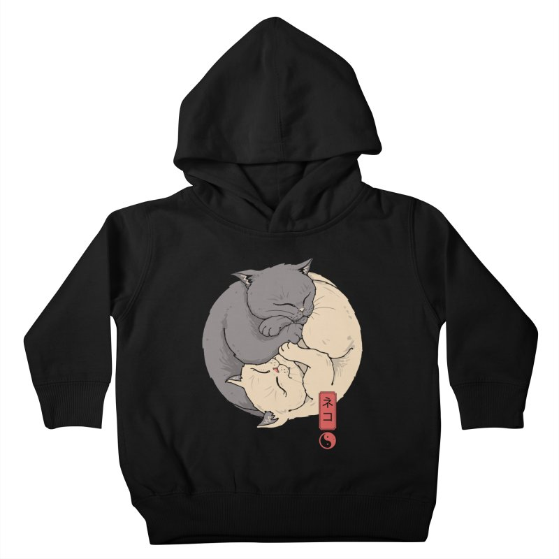 Yin Yang Cats Kids Toddler Pullover Hoody by Vincent Trinidad Art