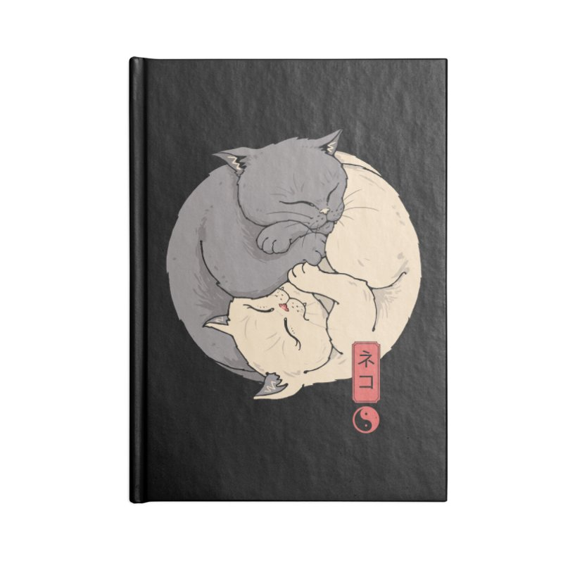 Yin Yang Cats Accessories Notebook by Vincent Trinidad Art