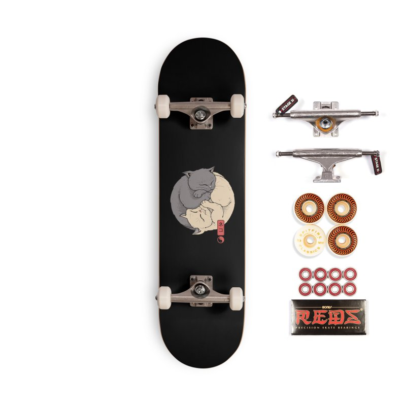 Yin Yang Cats Accessories Skateboard by Vincent Trinidad Art