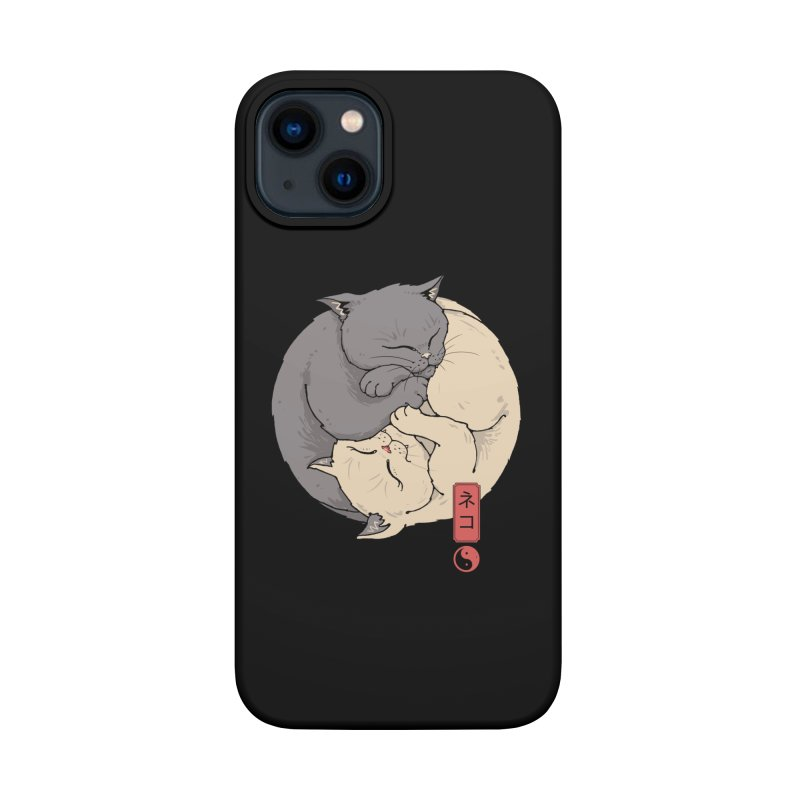 Yin Yang Cats Accessories Phone Case by Vincent Trinidad Art