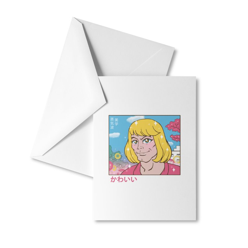 Kawaii Prince Accessories Greeting Card by Vincent Trinidad Art
