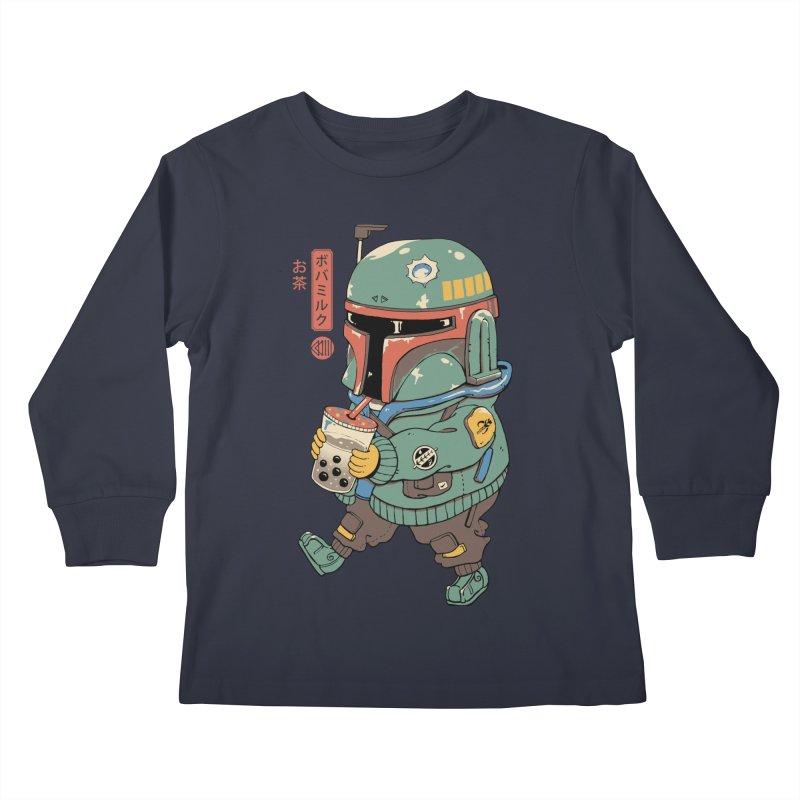 BounTea Hunter Kids Longsleeve T-Shirt by Vincent Trinidad Art