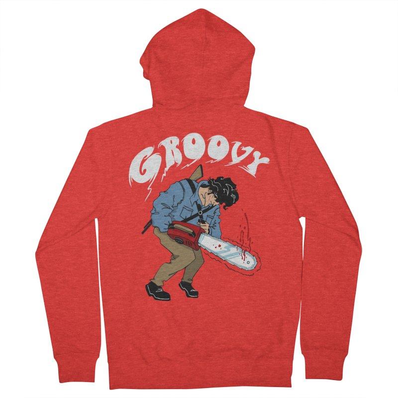 Groovy Men's Zip-Up Hoody by Vincent Trinidad Art