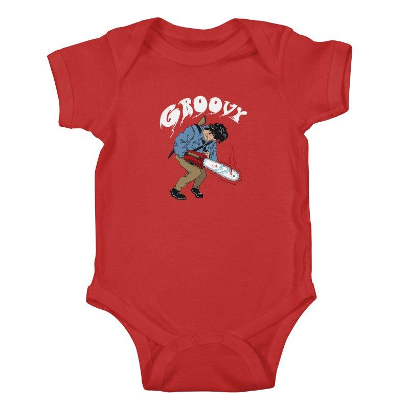 Groovy Kids Baby Bodysuit by Vincent Trinidad Art