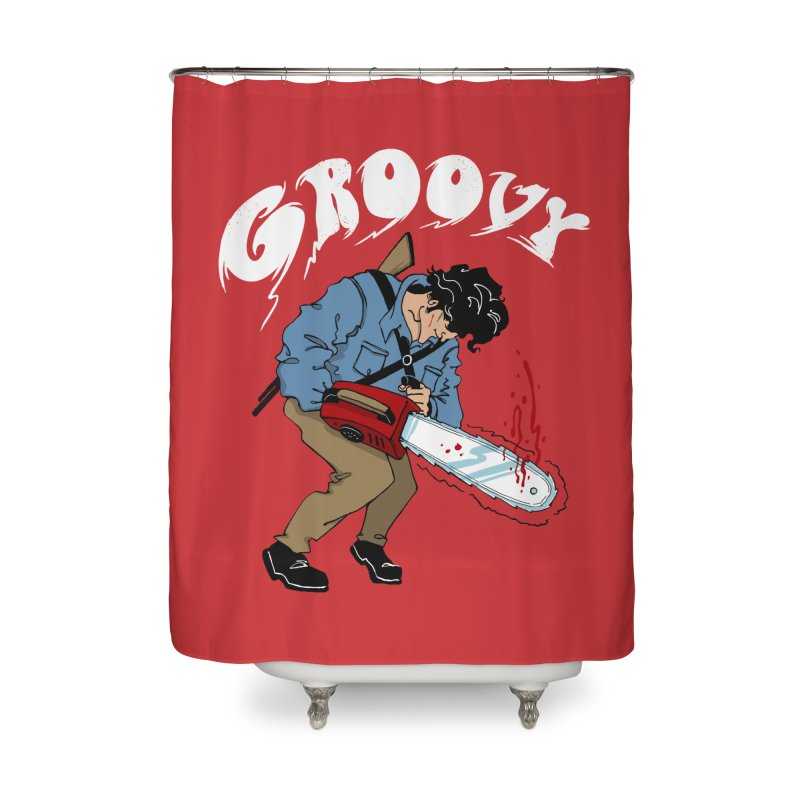 Groovy Home Shower Curtain by Vincent Trinidad Art
