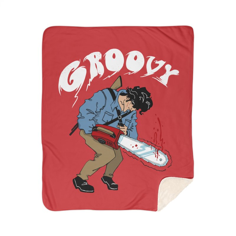 Groovy Home Blanket by Vincent Trinidad Art