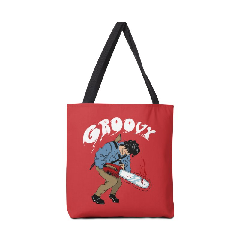 Groovy Accessories Bag by Vincent Trinidad Art