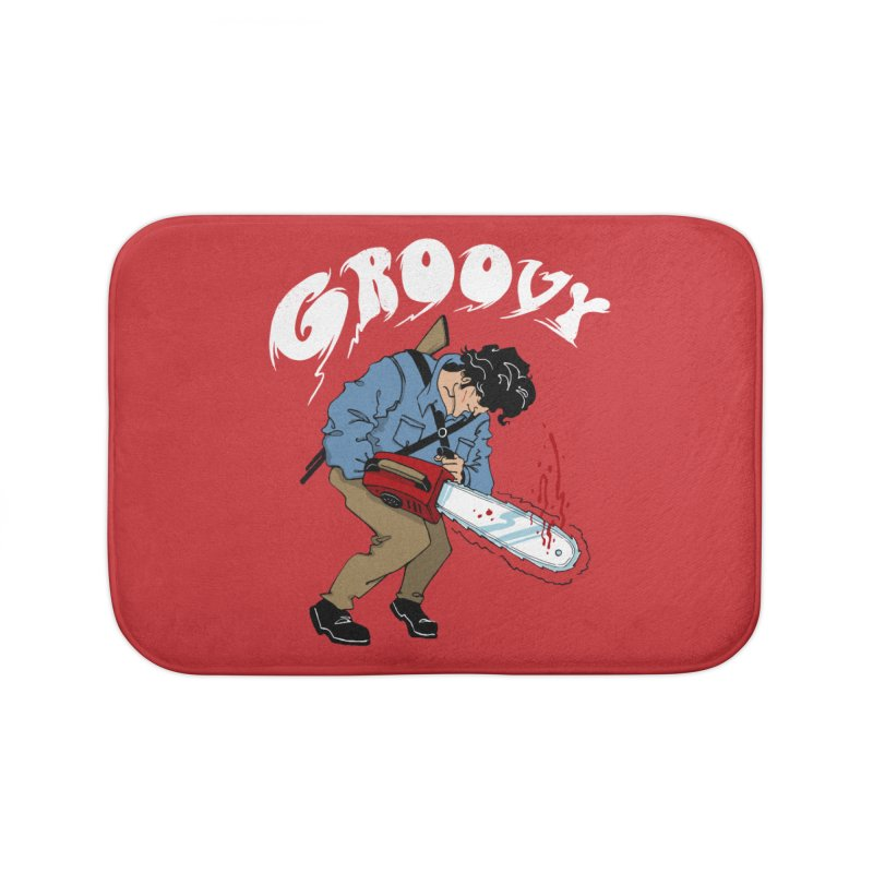 Groovy Home Bath Mat by Vincent Trinidad Art
