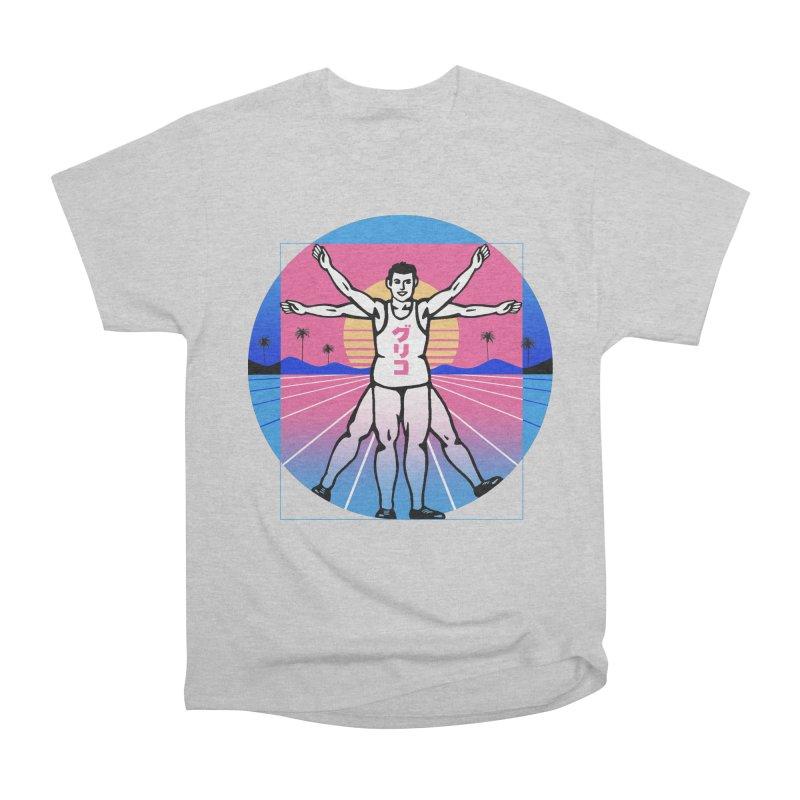 Running Vitruvian Man Men's T-Shirt by Vincent Trinidad Art