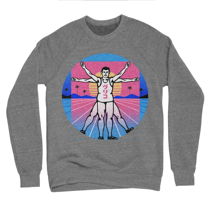 Running Vitruvian Man Men's Sweatshirt by Vincent Trinidad Art