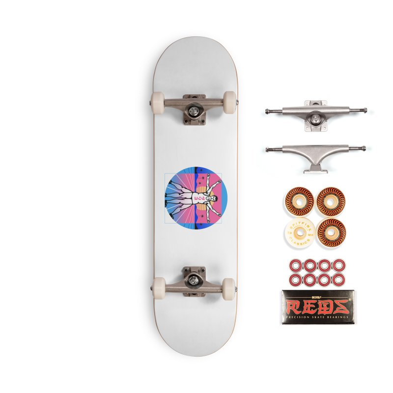 Running Vitruvian Man Accessories Skateboard by Vincent Trinidad Art
