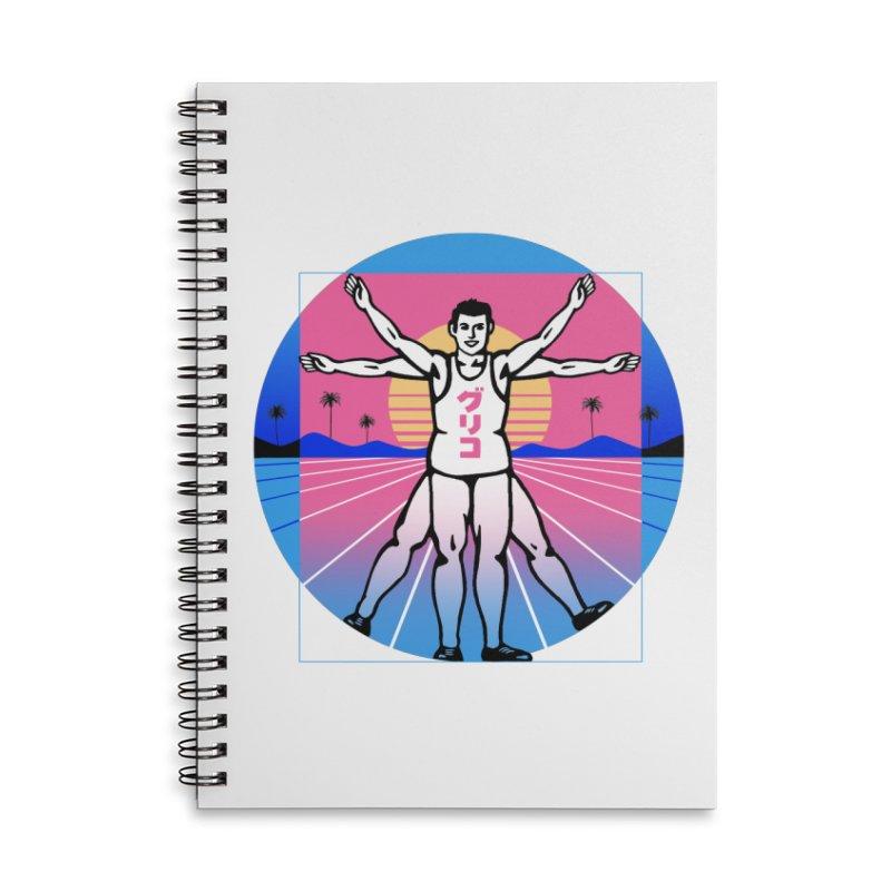 Running Vitruvian Man Accessories Notebook by Vincent Trinidad Art