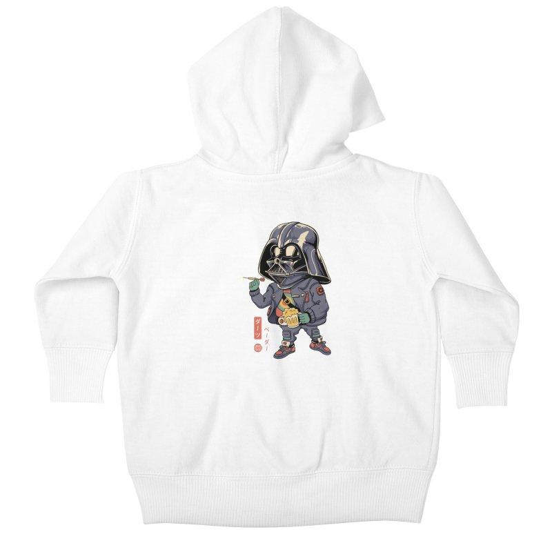 Darts Vader Kids Baby Zip-Up Hoody by Vincent Trinidad Art